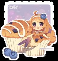Blueberry Muffin by DAV-19