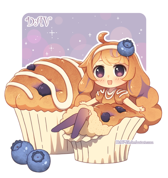 Blueberry Muffin by DAV-19
