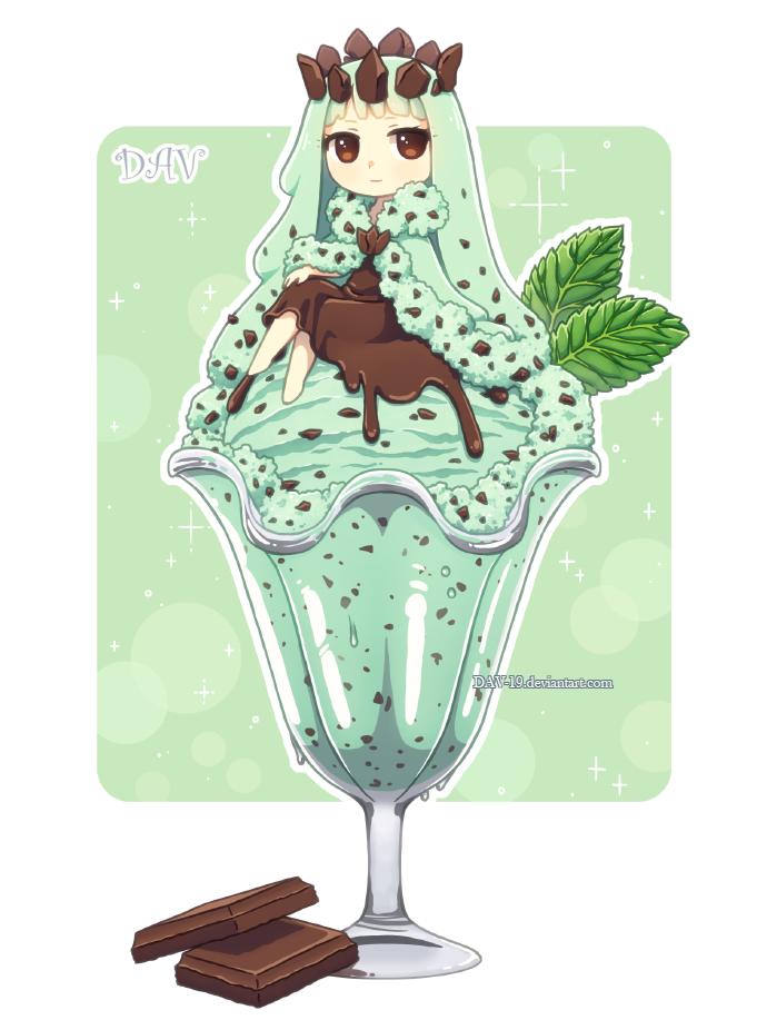 Mint Chocolate Chip Ice Cream by DAV-19