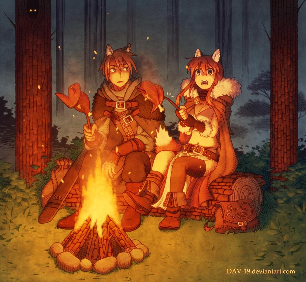 Dinner in the woods by DAV-19