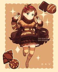 Mabel and chocolate