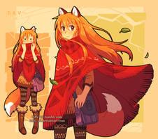 Fox and poncho