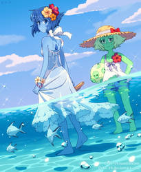 Lapis and Peridot