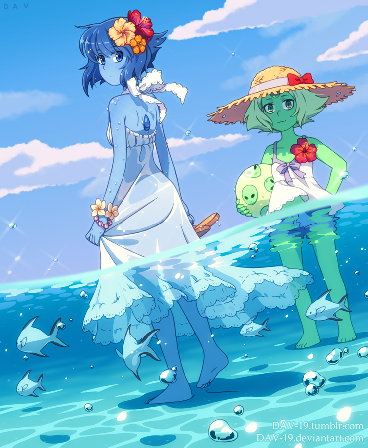 "Lapis Lazuli and Peridot from ""Steven Universe"" My Tumblr dav-19.tumblr.com/"