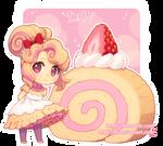 Strawberry Swiss Roll by DAV-19