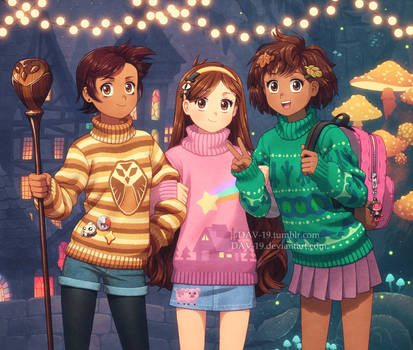 Girls and Sweaters