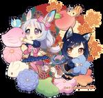 Kiyomi and Hotaru