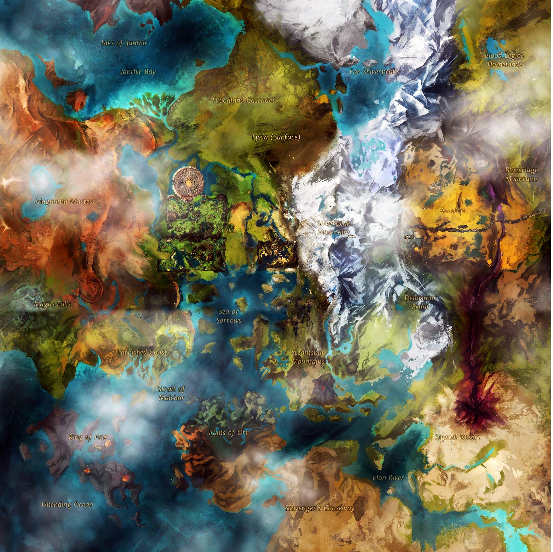 Guild Wars 2 World Map by Bhaal5001 on DeviantArt