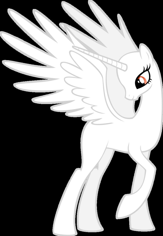 My little pony base unicorn with wings - photo#28