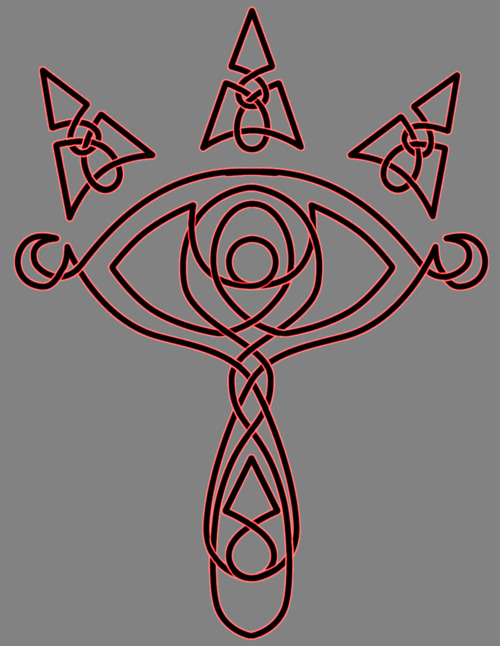 Celtic Sheikah symbol by Fuzzypop