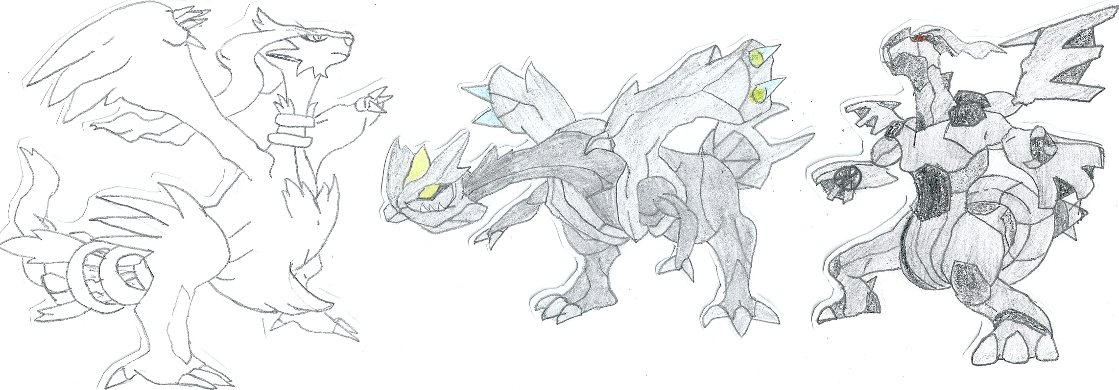 Kyurem Reshiram And Zekrom