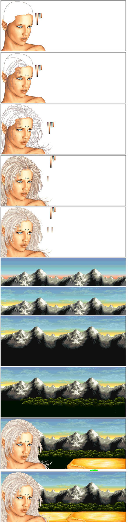 process of sillis by Mistress-Jaeden