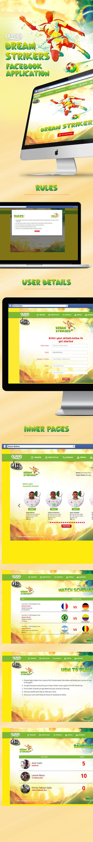 OLPER'S Dream Strikers Facebook App by Jamedkhan