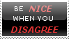Stamp 4 - Be nice by satakigreendragon