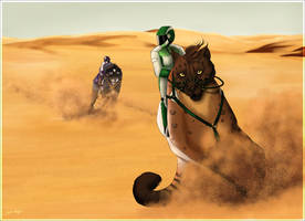 Shedu Art Auction_Claiming Race - Sahara Race by Intrecciafoglie