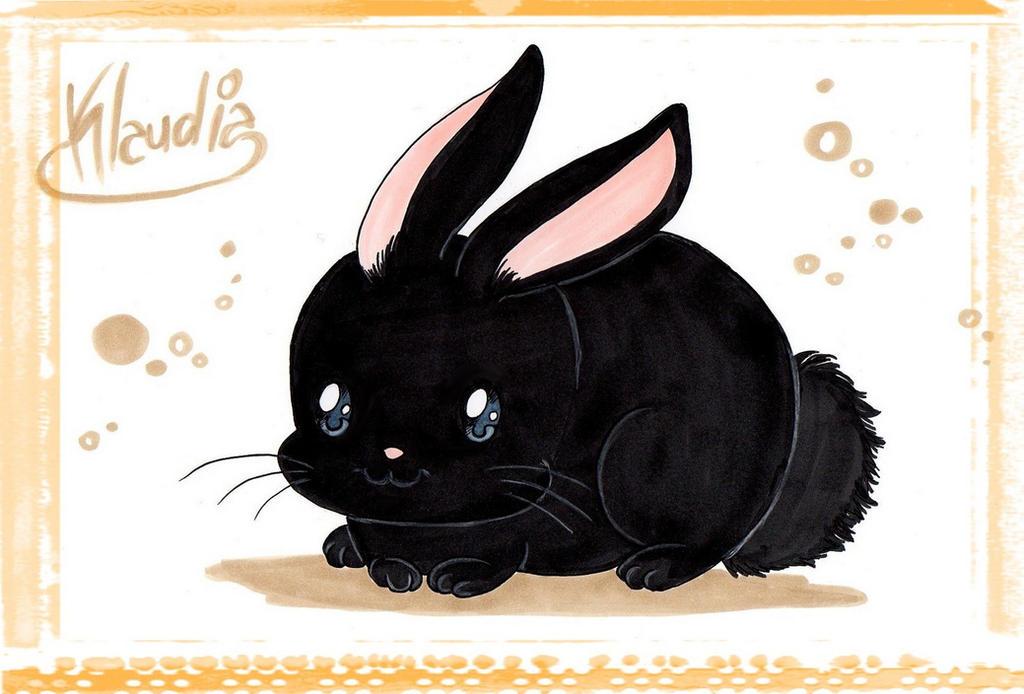Chibi Bunny Black by Klaudia-Ayame