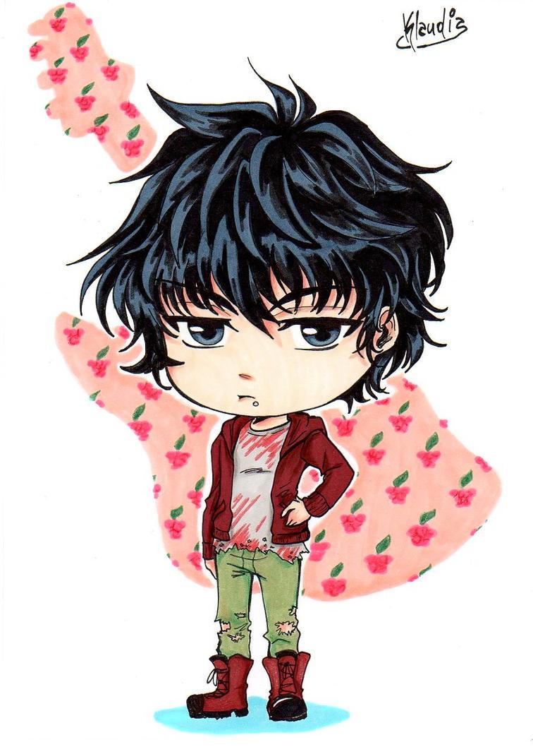 Commission: Chibi_Boy Raspberry by Klaudia-Ayame