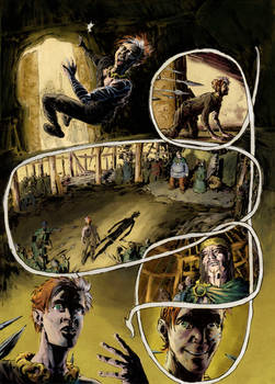FIONN Graphic Novel, page 3, coloured