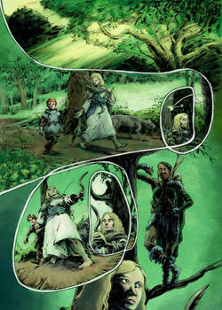 FIONN graphic novel page 4, coloured