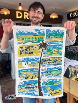 Metronomy 'English Riviera' Tea Towel Mockup