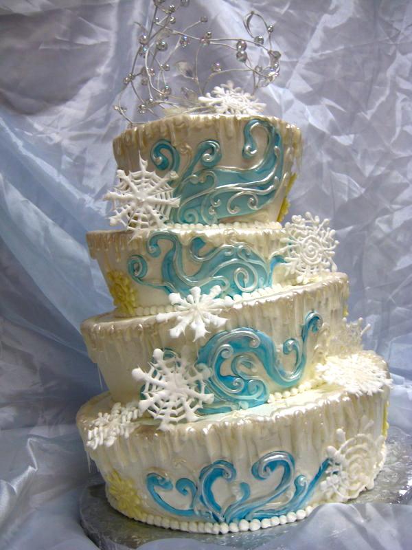 Cake Art Wonderland : Winter Wonderland Wedding Cake by forgetmmenot on DeviantArt