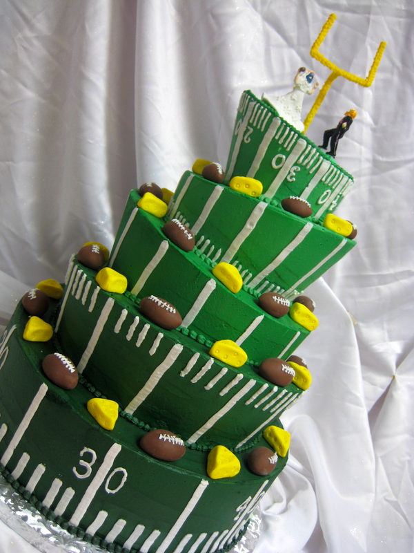 Green Bay Packers Cake by forgetmmenot