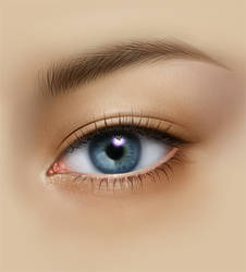 PAINTING EYE TUTORIAL_PART2 by AURORY
