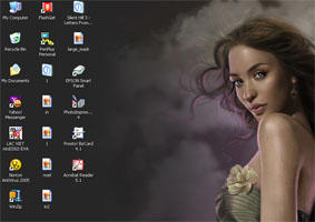 My desktop by AURORY