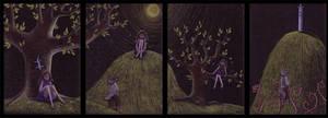 Nettle's Dreams: quadriptych by Crooty