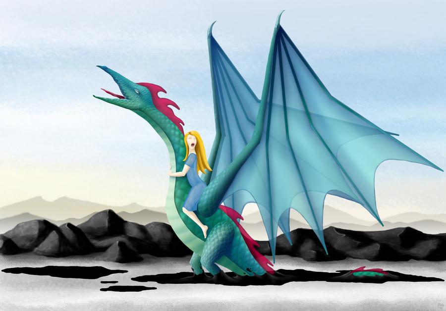 Girl on a Dragon