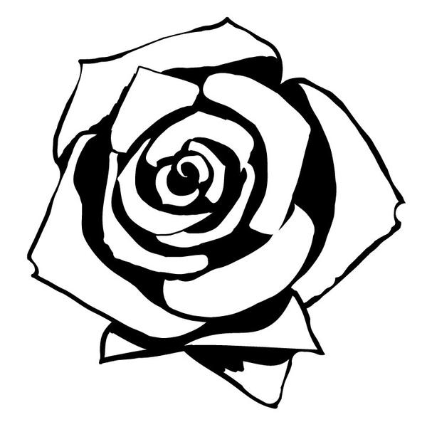 Rose-outline by Youkai-Beauty on DeviantArt