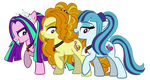 The Dazzlings- Pony Forms by DragonMaster137