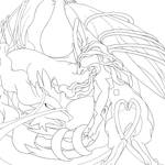 Suicune Used Constrict-Lineart
