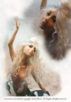 face sea dragon mermaid by cdlitestudio
