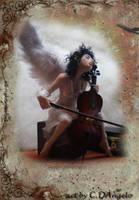 Heavenly Cellist C by cdlitestudio