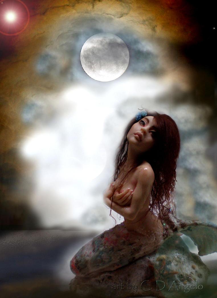 rock mermaid OLD by cd... Fantasy Mermaids On Rocks