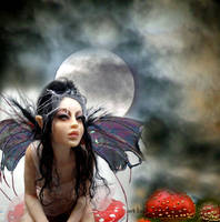 red deathcap fairy OLD by cdlitestudio