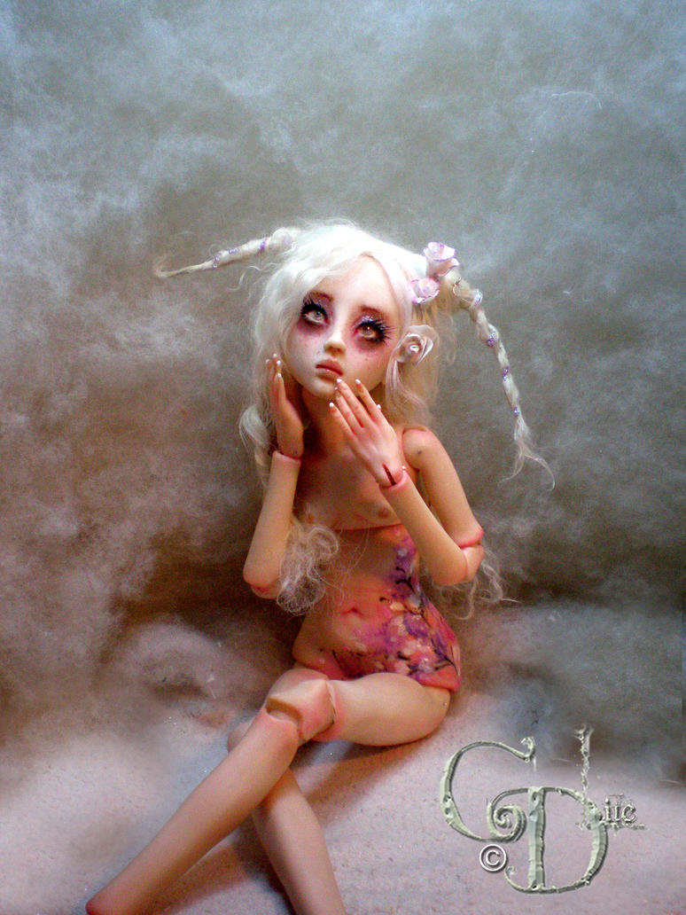 BJD ball jointed doll  Summer's Garden Bunny A by cdlitestudio