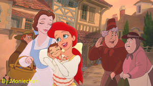 Going out for a walk - Ariel x Belle - femslash by moniechan