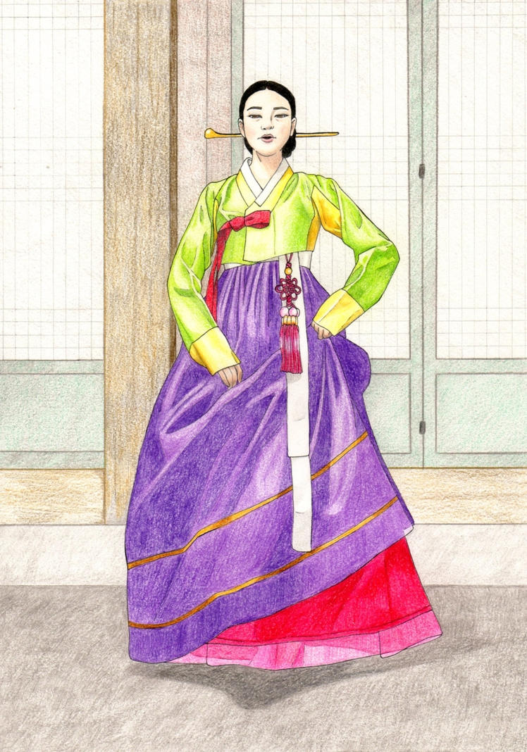 Dress Designs Drawings 2013 Hanbok by GoddessBast ...