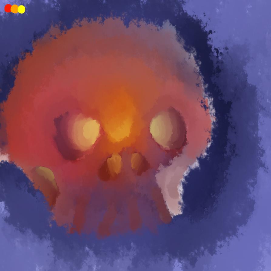 Glowing skull by Owsouu