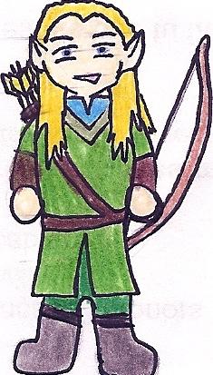 Legolas Cartoon by deviant-rohain
