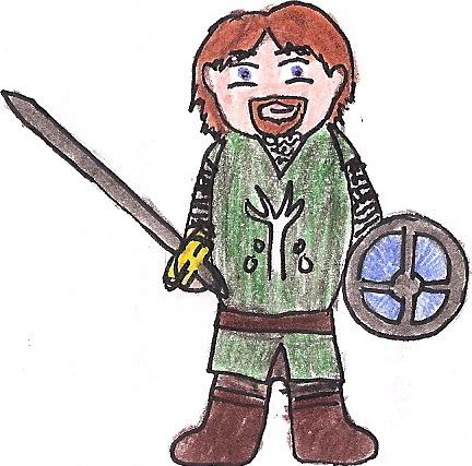 Boromir Cartoon by deviant-rohain