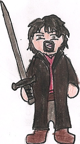 Aragorn Cartoon by deviant-rohain