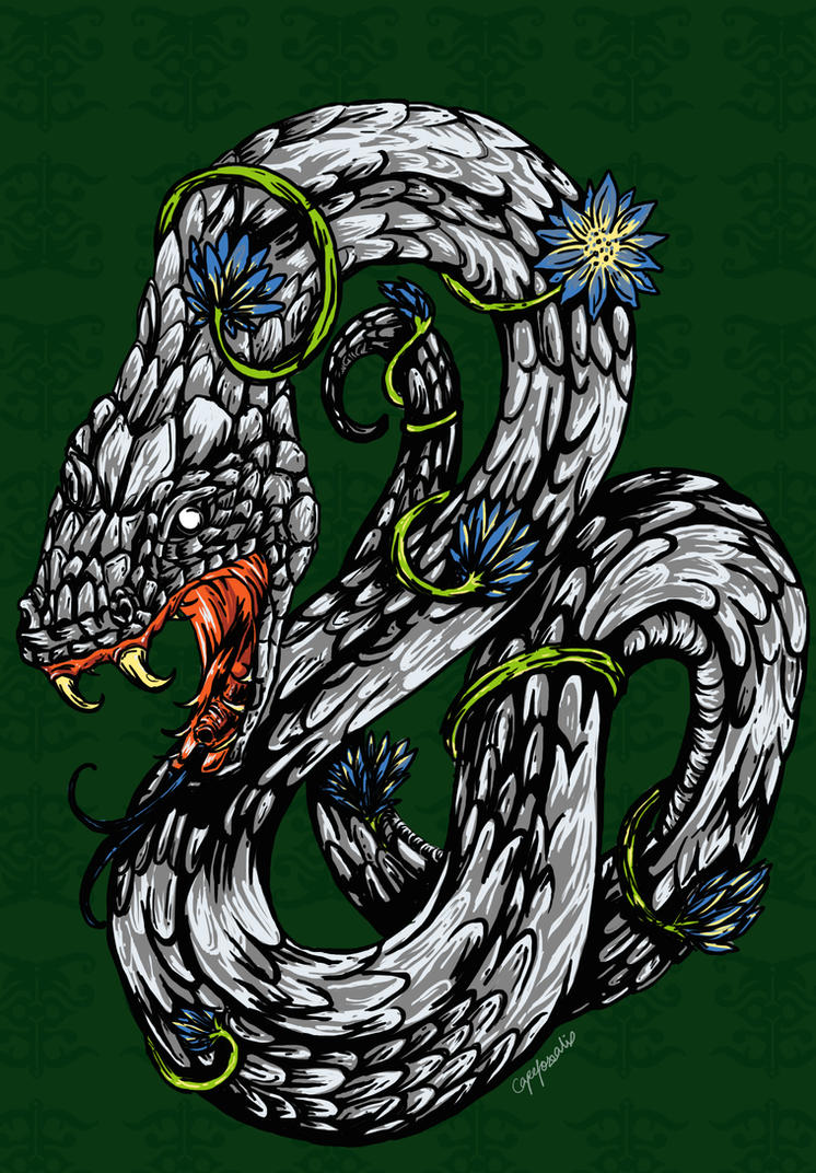Slytherin Crest by capefoxalix