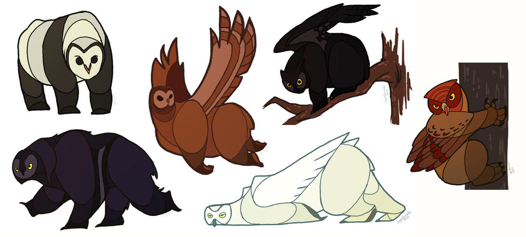 A Shindig of Owlbears by capefoxalix