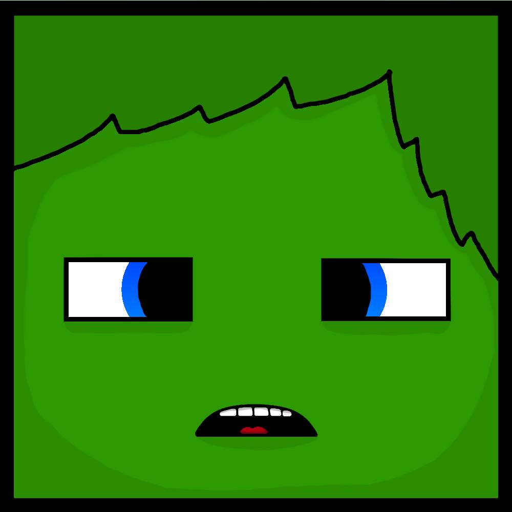 Minecraft Zombie Face (Cartoon) by Einstein12 on DeviantArt