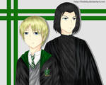 Draco and Snape - Coloured