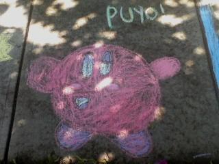 Chalk Kirby by BinaryP0wnage