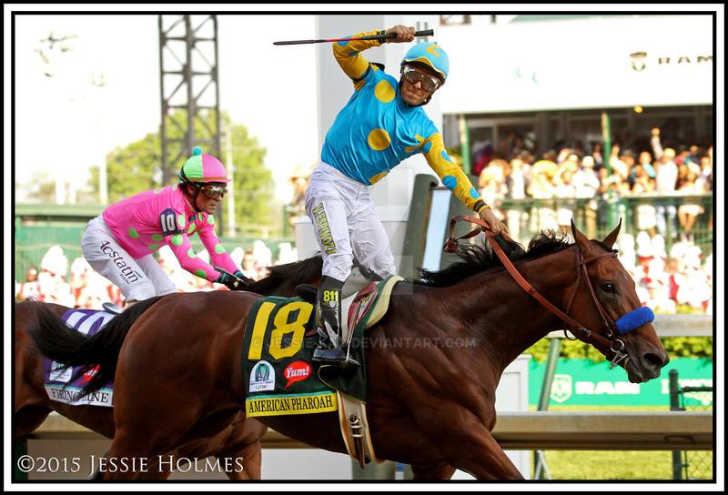 American Pharoah Wins the Kentucky Derby by Jessie-kad